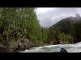 Река Коргон, порог Аврора, киль (июнь 2013)